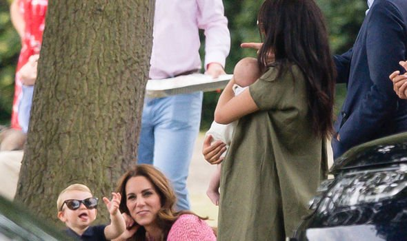 Louis pulled faces at Meghan Markle as she held Archie Image GETTY