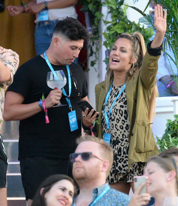 Love Island presenter Caroline Flack was also at the concert Image Getty Images