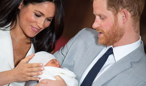 Meghan Markle and Harry welcomed their son Archie on May Image GETTY