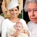Meghan Markle and Harrys simple blunder prevented the Queen from attending the christening Image Getty