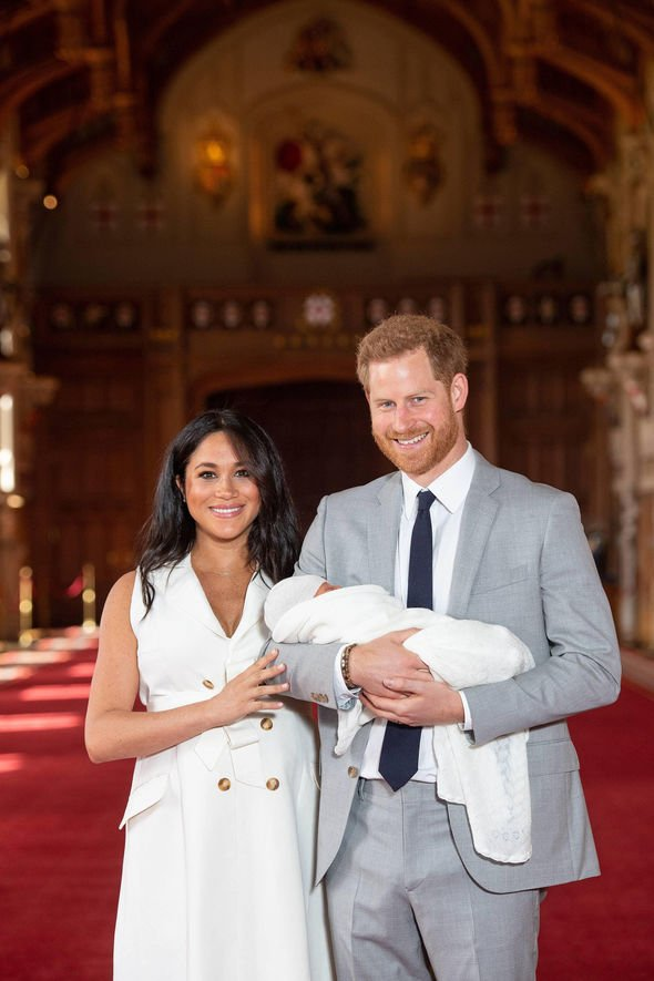 Meghan Markle and Prince Harry Meghan Markle and Prince Harry were said to be overjoyed Image GETTY