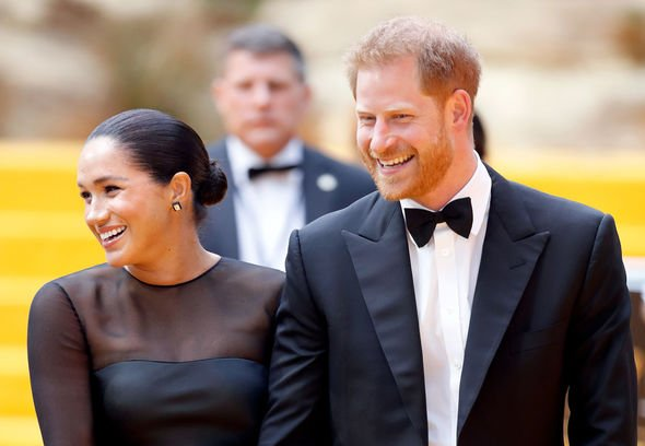 Meghan Markle and Prince Harry Prince Harry and Meghan at the Lion King premiere Image GETTY