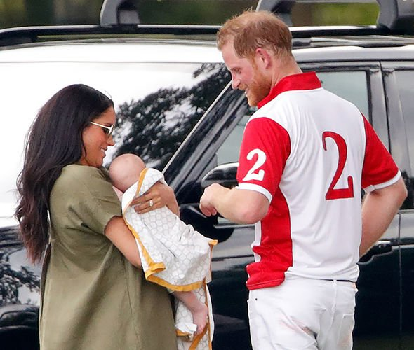 Meghan Markle and Prince Harry The Sussex family at a charity polo match Image GETTY