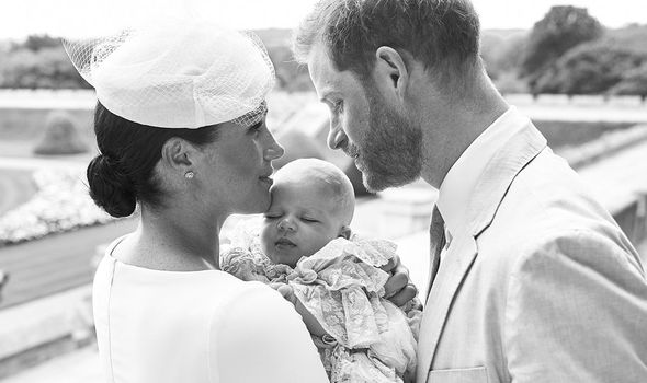 Meghan Markle and Prince Harry release baby Archies christening photos Image GETTY
