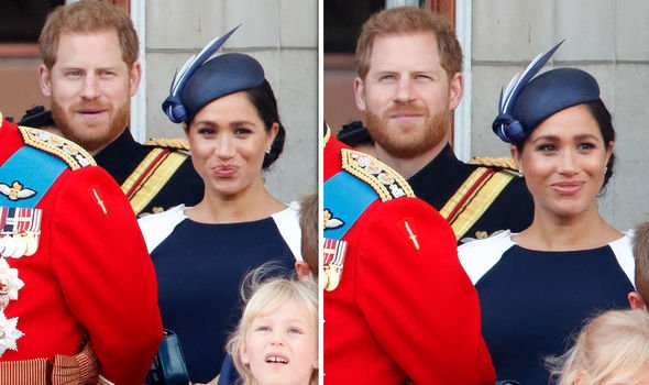 Meghan Markle and Prince Harry together at the Queens birthday celebration Image Getty