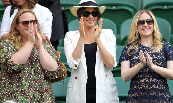Meghan Markle at Wimbledon last week Image GETTY