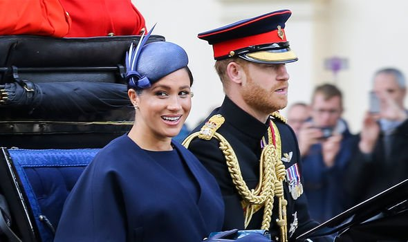 Meghan Markle news Meghan Markle and Prince Harry in a royal carriage at the Trooping the Colour Image Getty