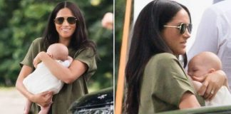 Meghan Markle was attacked for how she held baby Archie Image GETTY PA