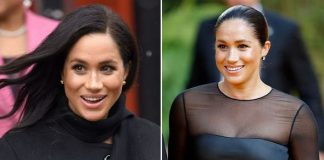 Meghan Markle wears black clothing to stay out of the limelight Image Getty