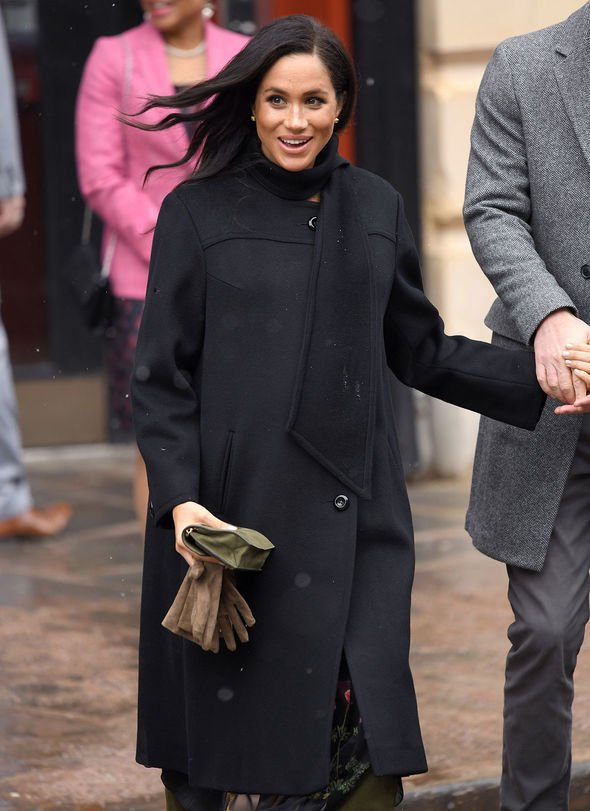 Meghan Markle wore all black to a visit to Bristol Old Vic in February Image Getty