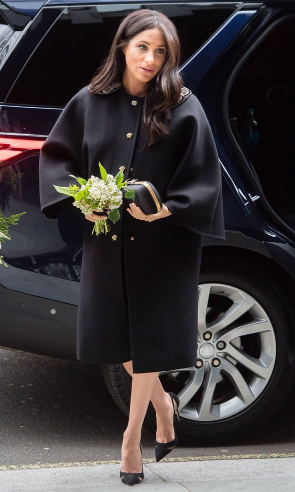 Meghan Markle wore all black to sign a book of condolence after the Christchurch attack Image Getty
