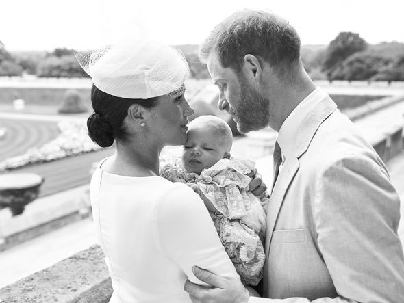 Meghan also wore the hair style to the christening of baby Archie Image GETTY