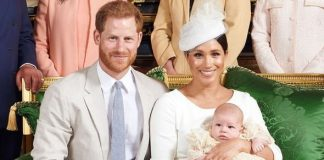 Meghan and Harry delighted royal fans by sharing two pictures of Archie's christening on Instagram Image CHRIS ALLERTON SUSSEX ROYAL