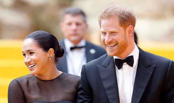 Meghan and Harry recently attended The Lion King premiere Image GETTY