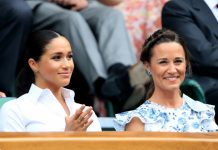 Meghan and Pippa at Wimbledon Photo PA