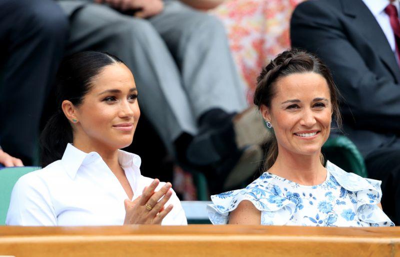 Meghan and Pippa at Wimbledon Photo PA