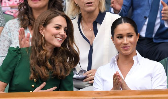 Meghan left the ground earlier than sister in law Kate Image Getty