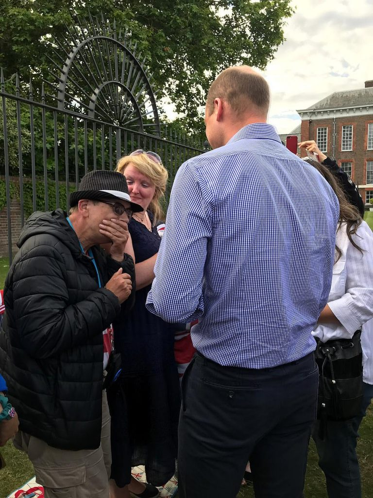 One man is speechless with shock after Prince William walked out to meet the small group of well wishers at Kensington Palace on his mothers birthday
