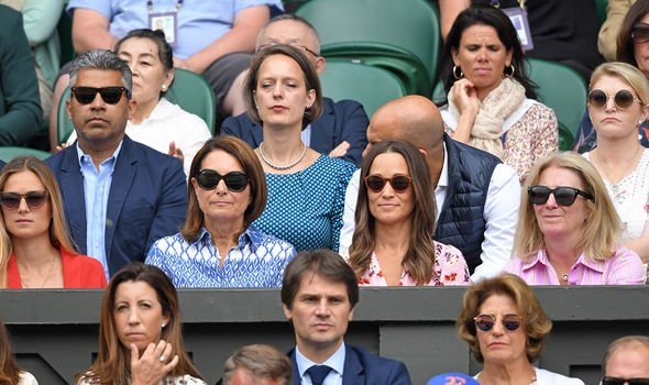 Pippa Matthews and Carole Middleton also watched the mens final Image PA