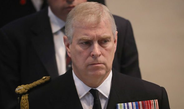 Prince Andrew was in the chapel at the time of the fire Image GETTY