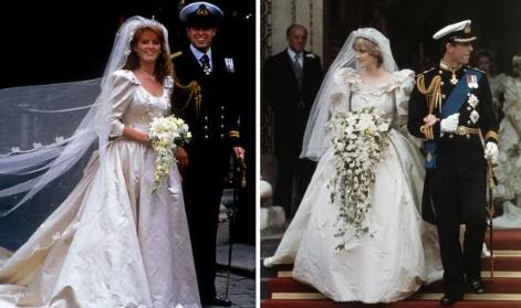 Prince Charles and Prince Andrews royal weddings Image Getty