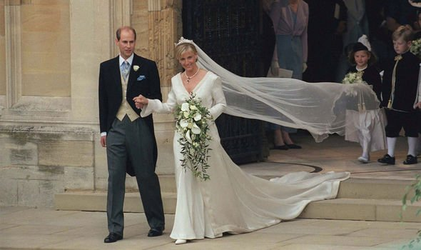 Prince Edward and Sophie Countess of Wessexs royal wedding in Image Getty