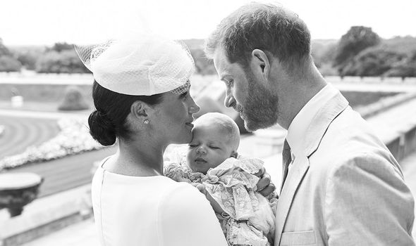 Prince Harry news Harry and Meghan released two christening photos on their Instagram account Image Getty
