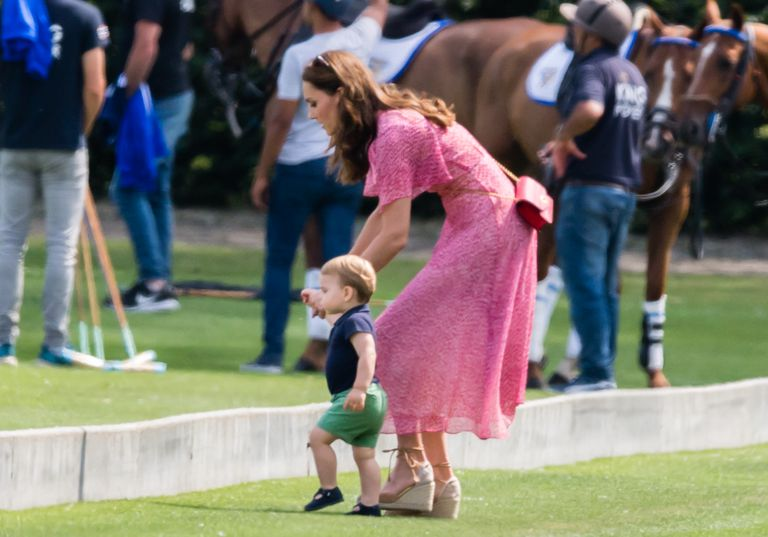 Prince Louis pulling funny faces at his aunt Meghan Markle is the best thing youll see today Photo C GETTY IMAGES