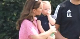 Prince Louis was snapped sucking his thumb as he watched his father play polo Image GETTY