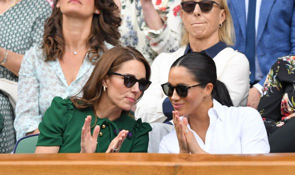 Prince William and Harry rift Meghan and Kate appear friendly at Wimbledon Image Getty