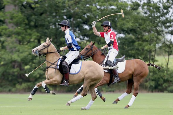 Prince William and Harry rift The brothers playing polo last week Image Getty