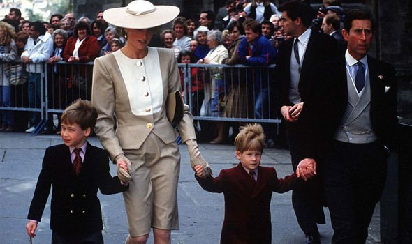 Prince William and Prince Harry with their parents in Image Getty