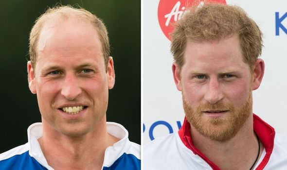 Prince William appeared to shrug off Prince Harry's sweet gesture yesterday Image GETTY