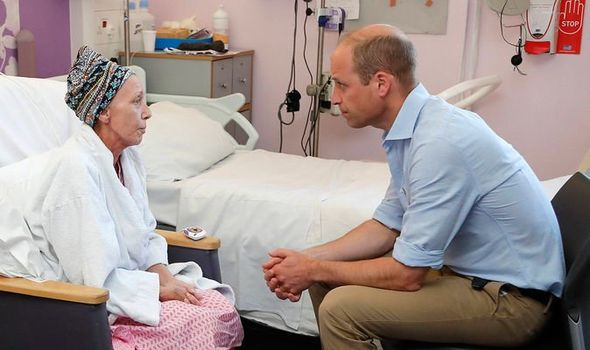 Prince William visited patients at the Royal Marsden Hospital Image PA