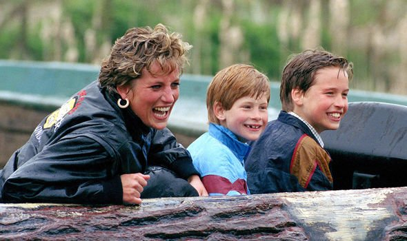 Princes Diana with her sons Image GETTY