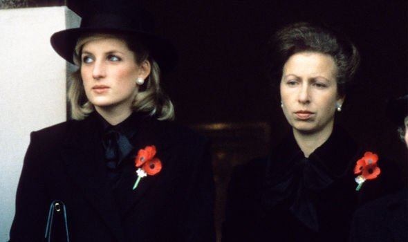 Princess Anne was asked whether she was feuding with Diana Image GETTY