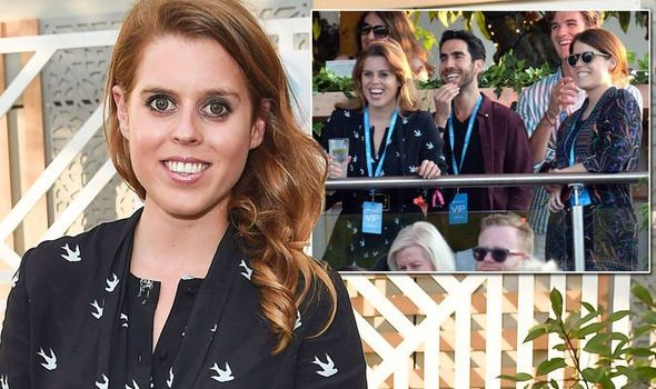 Princess Beatrice and Princess Eugenie lead the stars partying at Celine Dion's concert Image Getty Images