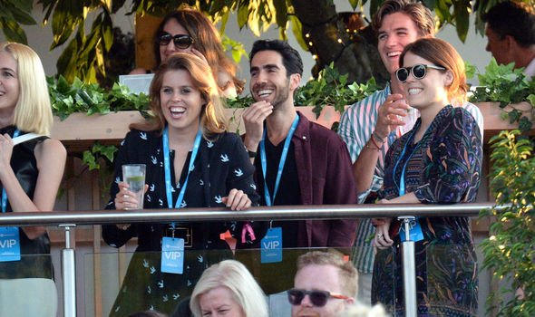 Princess Beatrice and her sister Princess Eugenie were all smiles at the British Summer Time event Image Getty Images