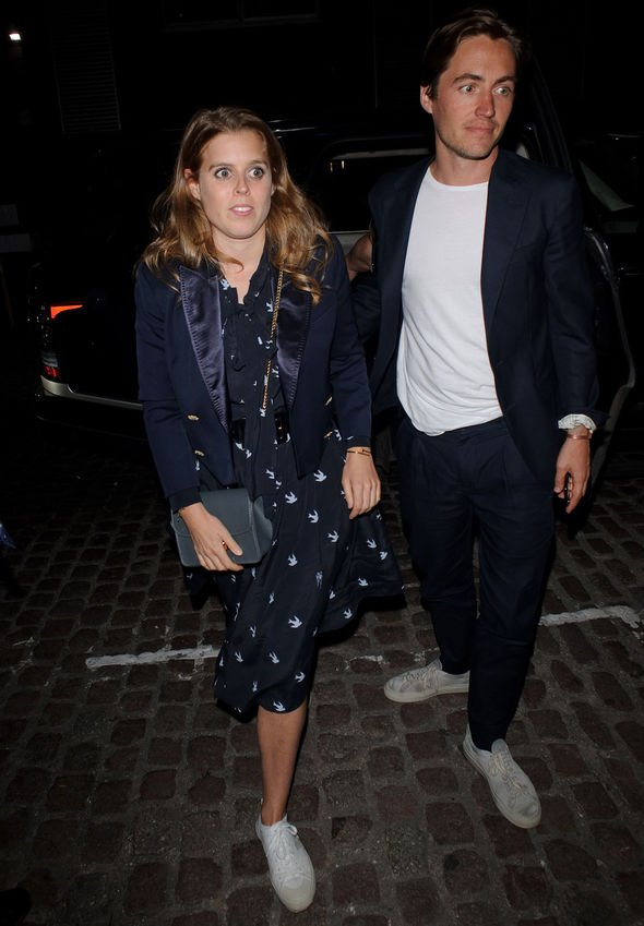 Princess Beatrice was later seen with her boyfriend Edoardo Mapelli Mozzi Image Getty Images