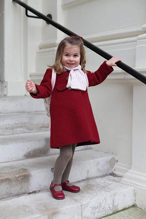 Princess Charlotte pictured on her first day at Willcocks Nursery in January Photo C PA