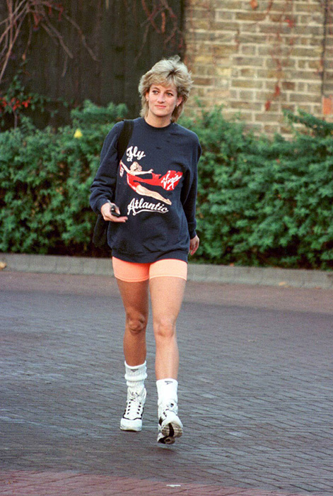 Princess Diana always looked amazing in her gym kit Photo C Getty Images