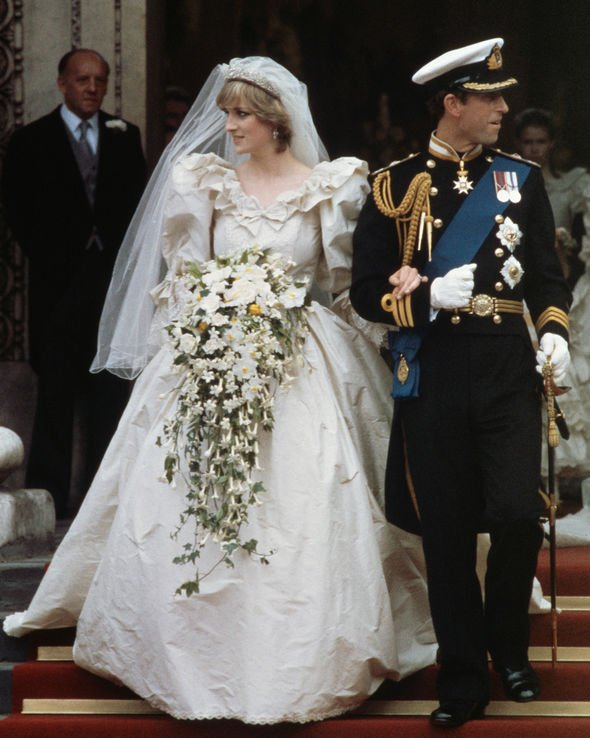 Princess Diana carried a cascade of flowers designed by Longmans Florist Image GETTY