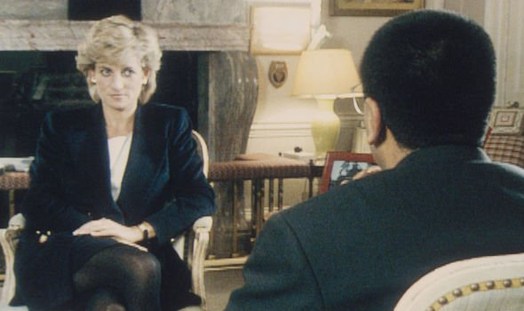 Princess Diana during her interview with BBC Panorama Martin Bashir Image GETTY