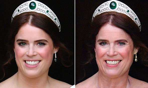 Princess Eugenie Image FaceApp GETTY