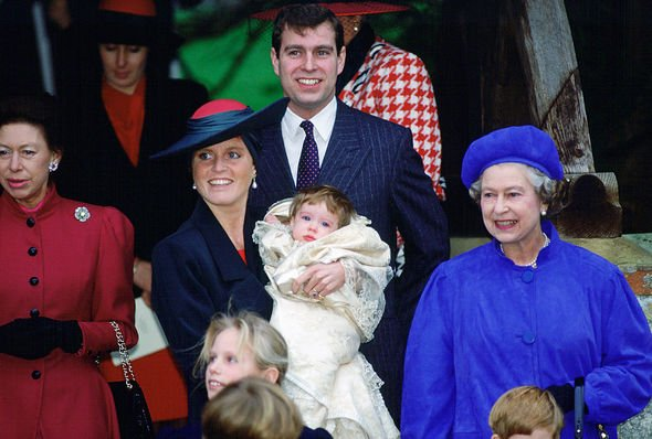 Princess Eugenie was the first royal baby to have a public christening Image GETTY