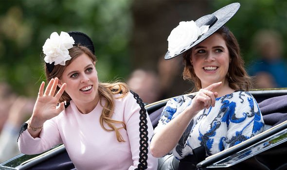Princesses Beatrice and Eugenie will be guests of honour along with their mother Sarah Ferguson Image GETTY