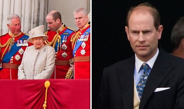 Queen Elizabeth II and the Royal Family and Prince Edward Image Getty
