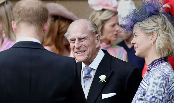 Queen Elizabeth and Prince Philip Philip attended Lady Gabriellas wedding Image GETTY