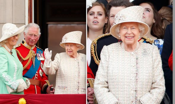 Queen Elizabeth and Prince Philip Philip wasnt at Trooping the Colour Image GETTY