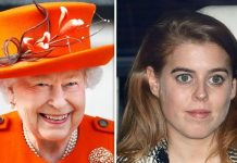 Queen Elizabeth consoled a young Princess Beatrice in Image GETTY